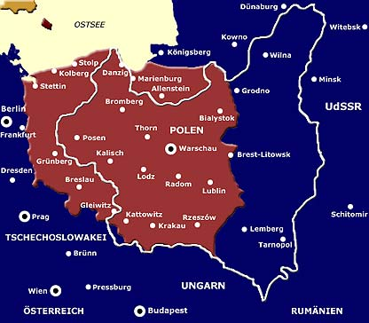 grenzen polen vor 1939